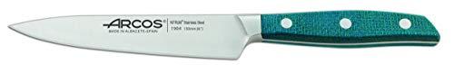 Arcos Serie Brooklyn - Cuchillo Cocinero - Hoja de Acero Inoxidable Forjado NITRUM 150 mm - Mango de Micarta Color Azul (Filo Seda)