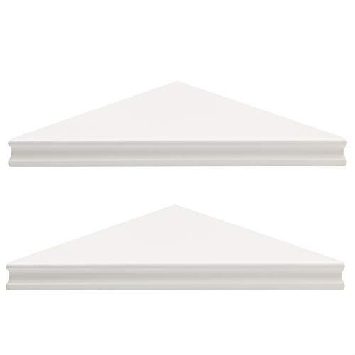 Amazon Basics Corner Shelves - 16-Inch White 2-Pack