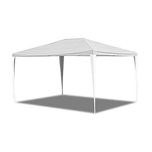EINFEBEN Pavillon 3x4m Wasserdicht Steckpavillon Gartenpavillon UV-Schutz Ohne Seitenteile hochwertiges Partyzelt weiß für Garten Party Markt Terrasse