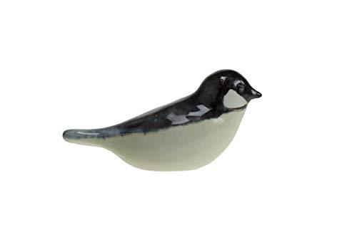 Urn/Mini Urn - Urn Vogel Keramiek Zwart/Geel - Urn voor as - Urn Hond - Urn Kat - Urn Glasobject - Urn Kunst - As-Gedenkstuk