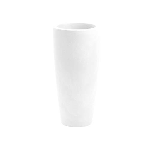 Nicoli Vaso Alto CILINDRICO Style Bianco 3636B 35.8 x 70h cm da Interni/Esterno