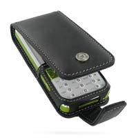 PDair Handarbeit Leder Hülle - Leather Flip Case for Sony Ericsson K660i (Black)