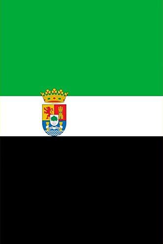 Bandera Extramadura Nacionalista: un diario cuaderno de composición perfecta para escribir en 6x9 pulgadas con el regalo cuadernos de 120 páginas del ... | bandera andalucia españa (Spanish Edition)