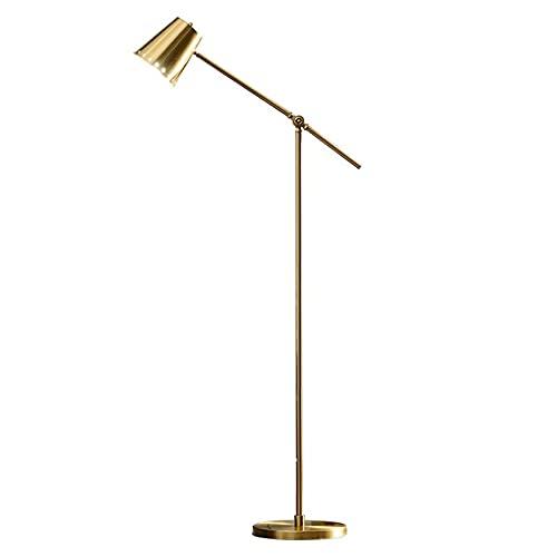 Indoor Metalen vloerlamp, verstelbare swing arm leeslamp, staande licht voor woonkamer slaapkamer kantoor woondecoratie…