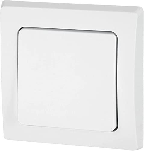 UP - Interruptor de conmutación IP44 para entornos húmedos (60 mm, todo en uno), color blanco mate