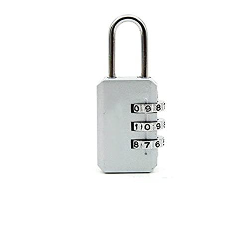 Candado de combinación de 2 piezas de 3 dígitos de marcado de combinación de código de bloqueo candado para equipaje con cremallera bolsa mochila bolso maleta