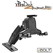iBOLT xProDock Bizmount AMPs - Heavy Duty Drill Base Mount and 2m microUSB Cable for Android Smartphones- for Cars, Desks, Countertops: Great for Commercial Vehicles, Trucks, and Telematic Commuters