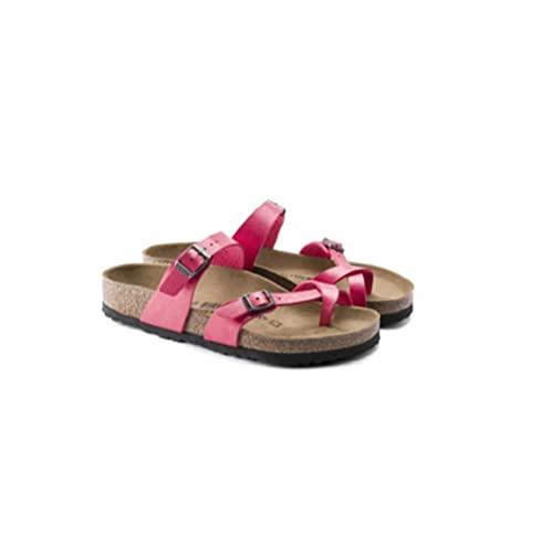 ypyrhh Zapatilla de Plataforma con cuña para Mujer,Zapatillas Planas de Corcho, acciones pinnant Antideslizantes-Rose Red_41,Zapatillas de Estar por Casa de Mujer/Hombre