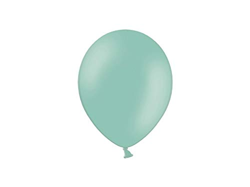 Les Colis Noirs LCN - Lot de 10 Ballon Pastel 23cm - Vert Menthe - Décoration Fête Mariage Baptême - 405