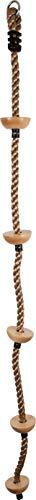 small foot 11877 Kletterseil mit Fußtritten aus Holz und stabilem Ring zur Aufhängung, in Natur-Optik, ab DREI Jahren Spielzeug