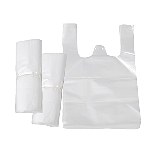 200 pcs Bolsas de Transporte Transparentes Estilo Chaleco, Resistentes Blancas de Estilo Chaleco Bolsas de Plástico para Satisfacer Múltiples Necesidades Nuevo Material - 30x45cm