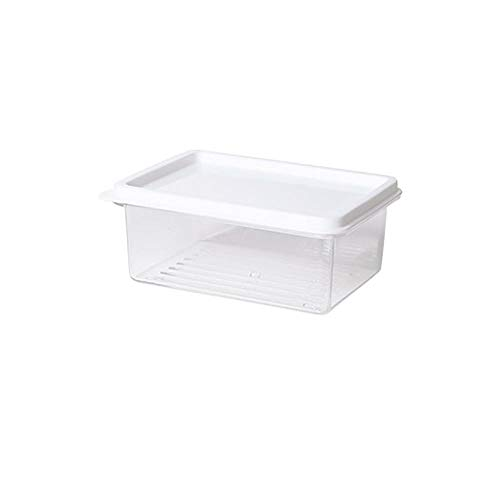 Fszhen-canh 1000ML Kitchen Transparent Sealed Fruit Food Storage Box Case With Lids Plastic Refrigerator Organizer Containers (Color : 450ML as pic show)