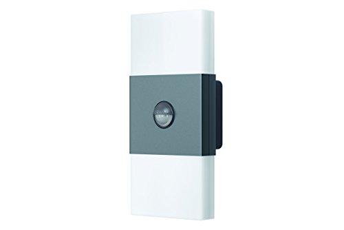 Osram LED Wandlampe, Noxlite, grau, Tageslichtsensor, Bewegungssensor, Außenleuchte, 6 Watt, Warmweiß- 3000K, double