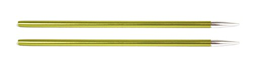 KnitPro wechselbare Nadelspitzen ZING lang, 3,50mm Rundstricknadel, Aluminium, Chrysolite, 12.5 x 0.35 x 0.35 cm