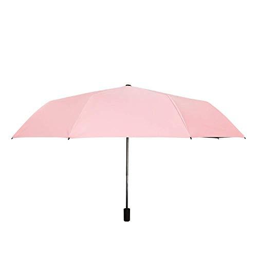 YXDEW Folding Umbrella Sun Umbrella for Women Men Travel Umbrella Mini 8 Ribs 190T UPF 50 Windproof Design Fashion Anti-UV Umbrella Travel Umbrella waterproof (Color : Pink, Size : One Size)