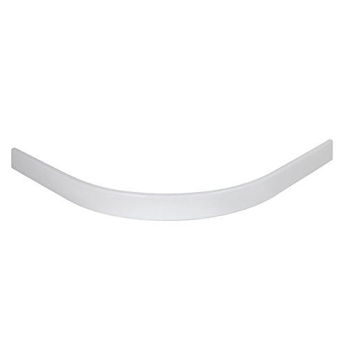 Schulte Duschwannen-Schürze 90x90 cm, rund extra-flach, Höhe 11 cm, Radius 550 mm, Sanitär-Acryl alpin-weiß