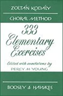 Kodaly Choral Method - 333 Elementary Exercises in Sight Singing