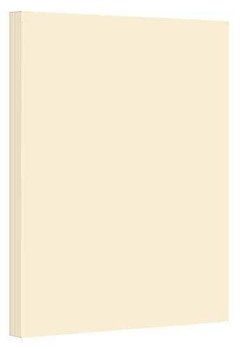 Cream Thick Paper Cardstock - for Brochure, Invitations, Stationary Printing   80 lb Card Stock   8.5 x 11 inch   Heavy Weight Cover Stock (216 gsm) 98 Brightness   8 1/2 x 11   50 Sheets Per Pack