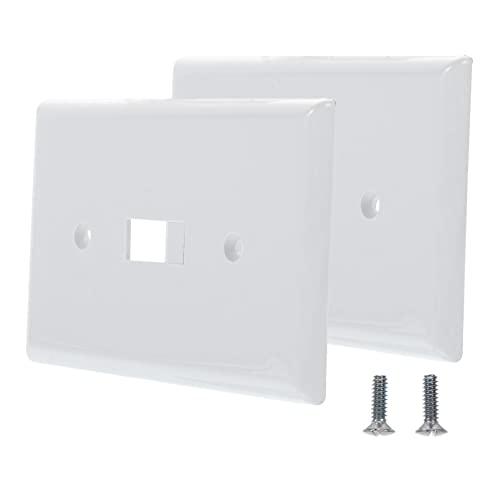 Angoily 2 Piezas Placa de Interruptor de Palanca de Luz Blanca Cubierta de Interruptor Protector de Salida de Pared Hogar Cubierta de Interruptor de Luz de Conmutación Dispositivo