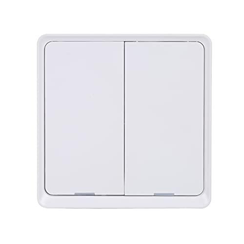 Voupuoda Interruptor de luz inteligente de 2 bandas No se necesita cable neutro Interruptor de luz Wifi de 2,4 Ghz Compatible con y Google Home con temporizador de programación Unipolar No se re