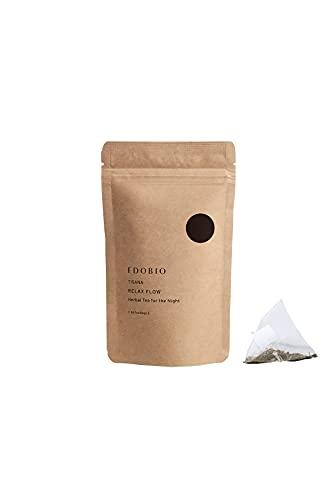 ブレンド ハーブティー EDOBIO(エドビオ) リラックスフロー ティーバッグ 40g 2gx20包 ブルーベリー くにさと35号 合成着色料 合成香料 合成保存料不使用