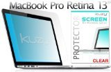 Kuzy - Retina 13-Inch CLEAR Screen Protector Film for MacBook Pro 13.3' with Retina Display A1502 and A1425 (NEWEST VERSION) - CLEAR