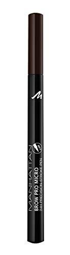 Manhattan Brow Pro Micro Pen Augenbrauenstift, in der Farbe 003 Dark Brown, Flüssiger Eyebrow Pencil mit ultra-präziser 0,2 mm Spitze, Für einen natürlichen Augenbrauen-Look