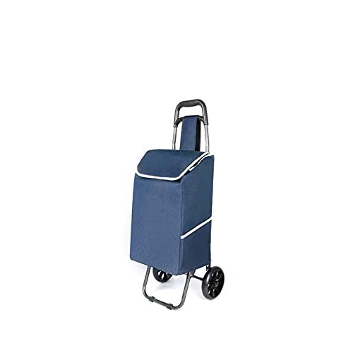 YUNLILI Convenientes Carro Plegable del Carro para la lavandería, Tienda de comestibles, Compras con Ruedas Portátiles de la Compra de la Compra de Ruedas.