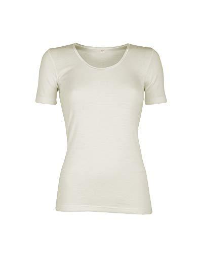 Dilling Merino T-Shirt für Damen - aus 100{081220b957ba1f5d67a195af024da81369c2eb7dde83f314c3d903f0c6341ebd} Bio-Merinowolle Natur 40