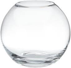 Oberstdorfer Glashütte grote kogelvaas grote heldere XXXL glazen bolvaas enorme kristalglas vaas, mondgeblazen hoogte ca. 34 cm. Diameter: circa 40 cm bovenste opening: ca. 21,5 cm.