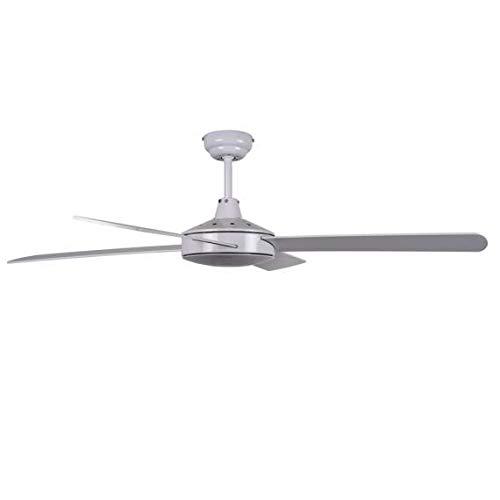 Ventilador blanco sin luz OSTRO con mando a distancia, Fabrilamp.: Amazon.es: Iluminación