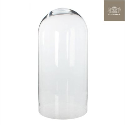 Casa Vivante glazen klok Ania transparant - 60 x 28 cm - glazen kap glazen val - Glasdom