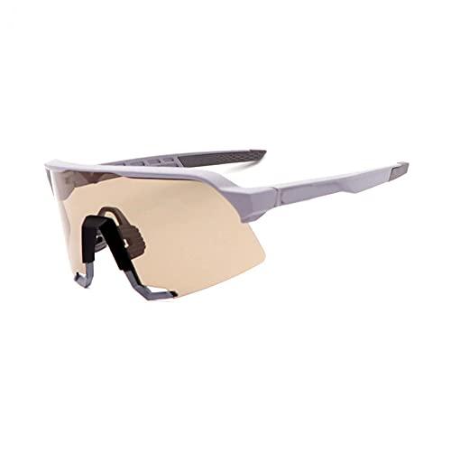YSPS Gafas de Ciclismo polarizadas para Hombres Mujeres UV400 Protección con 3 Lentes Intercambiables Gafas de Sol Deportivas al Aire Libre Ligeras D