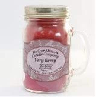 Our Own Candle Company Very Berry Scented 13 Ounce Mason Jar Candle
