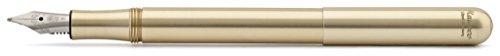 Kaweco Füllfederhalter LILIPUT Messing I Exklusiver Füllhalter für Tintenpatronen inklusive Retro Metallbox I Kaweco Füller 12,5 cm I Federbreite: M (Medium)