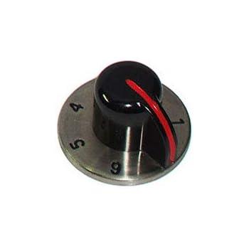 Prodotto originale - M6903//3 Alpes Inox Manopola piastra elettrica per piano cottura incastro perno /Ø 6 mm