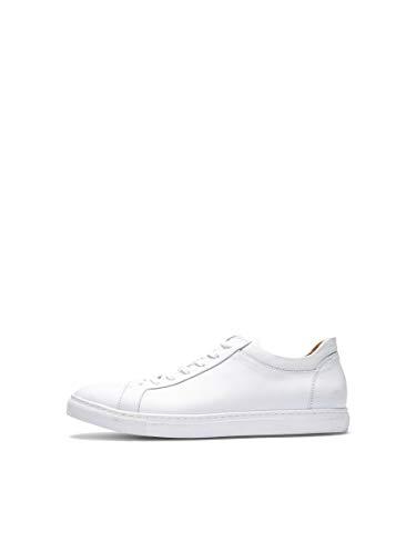 Selected SHNDAVID Sneaker Noos, Baskets Basses Homme, Blanc, 46 EU