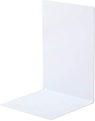 ソニック ブックエンド マグネット付 L型 大 1枚 白 DA-4207-W