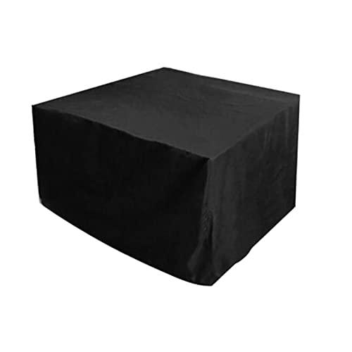 KUAIE Funda para muebles de jardín, impermeable, a prueba de polvo, protección UV, para exteriores, jardín, lluvia, nieve, silla, sofá, fundas personalizables (color: negro, tamaño: 120 x 60 x 90 cm)