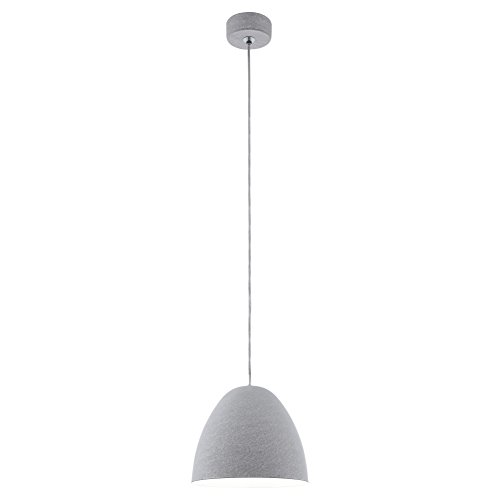 Preisvergleich Produktbild EGLO 94353 A++ to E,  Hängeleuchte,  Stahl,  E27,  Grau,  27.5 x 27.5 x 110 cm