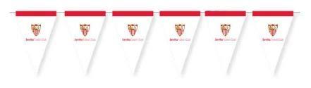 Banderín Sevilla F.C para Fiestas Temáticas Deportivas 3m 20x30 cm