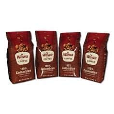 Wawa Coffee 4 Pack of 12 oz Freshly Ground Premium Beans (100% Columbian)