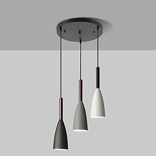 PDXGZ Lámpara Colgante Mesa de Comedor Moderna, araña de 3 Llamas con lámpara Colgante de Altura Ajustable E27 para Sala de Estar, Dormitorio, luz de Techo