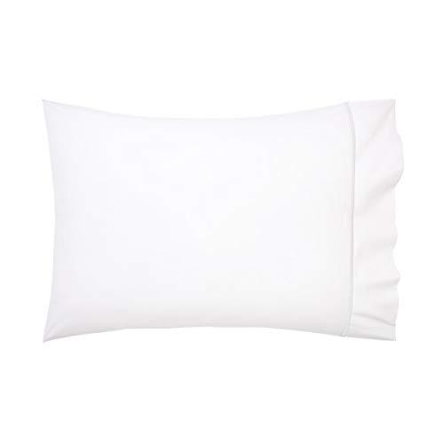 Yves Delorme - Athena Blanc (White) Standard Pillowcase - Luxury Pillowcase from France.