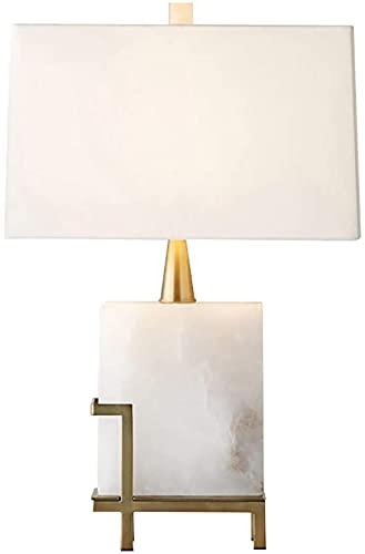 Rnwen Lámpara de Mesa Simple de mármol posmoderna, Modelo de Dise?Ador, habitación nórdica, lámpara de Noche, lámpara de Mesa de investigación, 40 * 65 cm