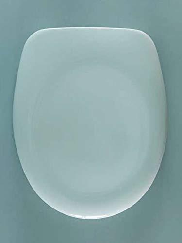 WC-Sitz von Vigour | Modell: derby basic | Edelstahlscharniere | für Stand-WCs | Farbe: (weiß-alpin)