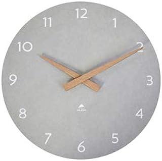 ALBA Wall Clock – Wood – Quartz – Silent – Precious – Modern Look and Purity – Grey