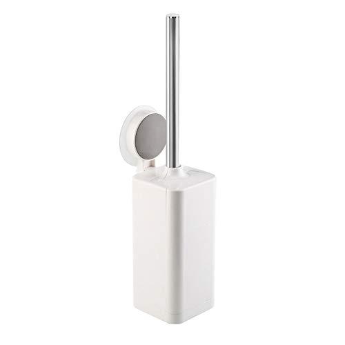 Aaren Reinigungsbürste WC Badezimmer-Bürsten-Satz abnehmbare Lagerung Einfache Toilettenoberfläche Dusty Reinigungsmittel-Werkzeug Handbürste Wandmontage & Stehen (Color : White)