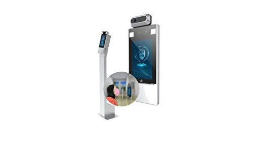 Cámara térmica para detección del puerto de la máscara y medición de temperatura frontal.