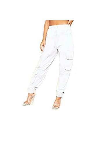 NAUVI Pantalones deportivos de gran tamaño con 3 bolsillos para mujer